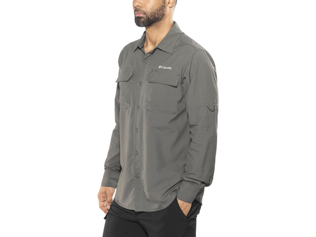 Columbia Silver Ridge II Camiseta de manga larga Hombre, grill